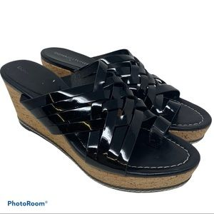 Donald J Pliner Flore Patent Leather Heel Sandals